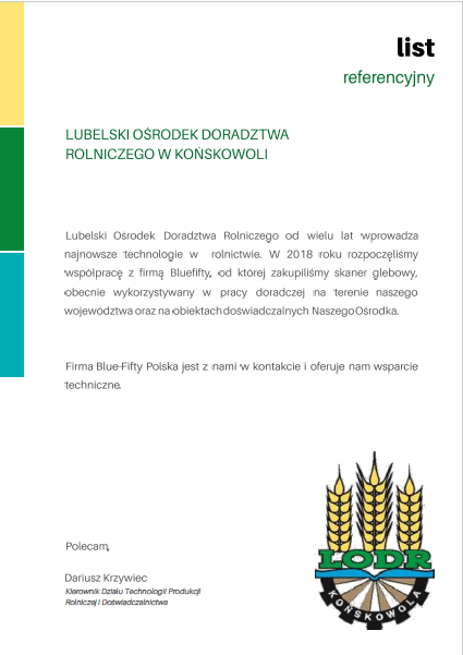 Lubelski Ośrodek Doradztwa Rolniczego- referencje skaner do gleby